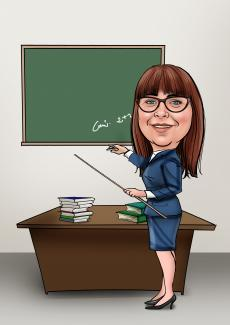Teacher Caricature