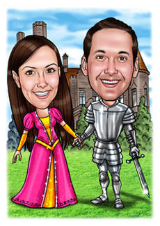 Lovely idea for a Knight and Princess photo