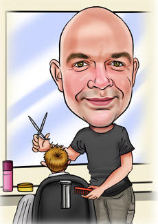 Barber Bill And Ben The Cartoon Men Caricatures From