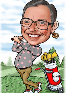 Golf Caricatures