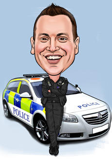 Police Bill And Ben The Cartoon Men Caricatures From