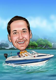 Water Sports Bill And Ben The Cartoon Men Caricatures