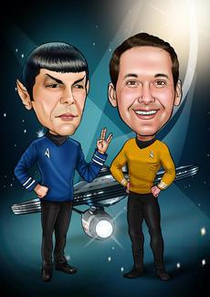 Star Trek Bill And Ben The Cartoon Men Caricatures