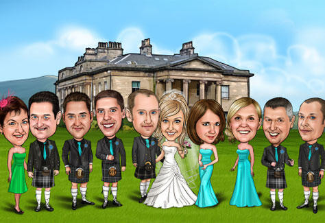 Perfect gift for friends and family of your Scottish Wedding